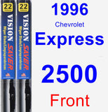 Front Wiper Blade Pack for 1996 Chevrolet Express 2500 - Vision Saver