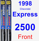 Front Wiper Blade Pack for 1998 Chevrolet Express 2500 - Vision Saver