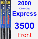 Front Wiper Blade Pack for 2000 Chevrolet Express 3500 - Vision Saver