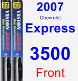 Front Wiper Blade Pack for 2007 Chevrolet Express 3500 - Vision Saver