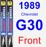 Front Wiper Blade Pack for 1989 Chevrolet G30 - Vision Saver