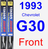 Front Wiper Blade Pack for 1993 Chevrolet G30 - Vision Saver