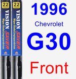 Front Wiper Blade Pack for 1996 Chevrolet G30 - Vision Saver