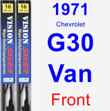 Front Wiper Blade Pack for 1971 Chevrolet G30 Van - Vision Saver