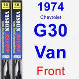 Front Wiper Blade Pack for 1974 Chevrolet G30 Van - Vision Saver