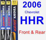 Front & Rear Wiper Blade Pack for 2006 Chevrolet HHR - Vision Saver