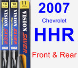 Front & Rear Wiper Blade Pack for 2007 Chevrolet HHR - Vision Saver