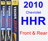 Front & Rear Wiper Blade Pack for 2010 Chevrolet HHR - Vision Saver