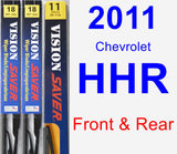 Front & Rear Wiper Blade Pack for 2011 Chevrolet HHR - Vision Saver