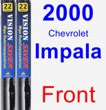 Front Wiper Blade Pack for 2000 Chevrolet Impala - Vision Saver