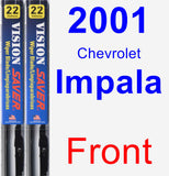 Front Wiper Blade Pack for 2001 Chevrolet Impala - Vision Saver