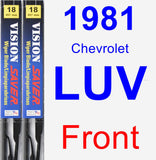 Front Wiper Blade Pack for 1981 Chevrolet LUV - Vision Saver