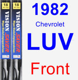 Front Wiper Blade Pack for 1982 Chevrolet LUV - Vision Saver