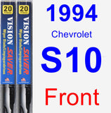 Front Wiper Blade Pack for 1994 Chevrolet S10 - Vision Saver