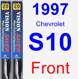 Front Wiper Blade Pack for 1997 Chevrolet S10 - Vision Saver