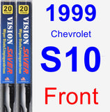 Front Wiper Blade Pack for 1999 Chevrolet S10 - Vision Saver