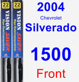 Front Wiper Blade Pack for 2004 Chevrolet Silverado 1500 - Vision Saver