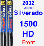 Front Wiper Blade Pack for 2002 Chevrolet Silverado 1500 HD - Vision Saver