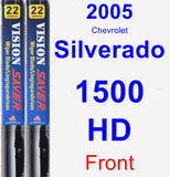 Front Wiper Blade Pack for 2005 Chevrolet Silverado 1500 HD - Vision Saver