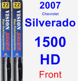 Front Wiper Blade Pack for 2007 Chevrolet Silverado 1500 HD - Vision Saver