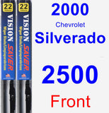 Front Wiper Blade Pack for 2000 Chevrolet Silverado 2500 - Vision Saver