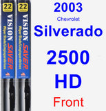 Front Wiper Blade Pack for 2003 Chevrolet Silverado 2500 HD - Vision Saver