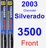 Front Wiper Blade Pack for 2003 Chevrolet Silverado 3500 - Vision Saver