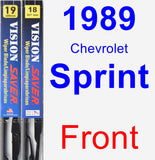 Front Wiper Blade Pack for 1989 Chevrolet Sprint - Vision Saver