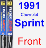 Front Wiper Blade Pack for 1991 Chevrolet Sprint - Vision Saver