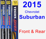 Front & Rear Wiper Blade Pack for 2015 Chevrolet Suburban - Vision Saver