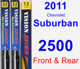 Front & Rear Wiper Blade Pack for 2011 Chevrolet Suburban 2500 - Vision Saver