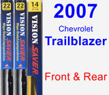 Front & Rear Wiper Blade Pack for 2007 Chevrolet Trailblazer - Vision Saver