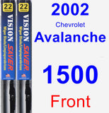 Front Wiper Blade Pack for 2002 Chevrolet Avalanche 1500 - Vision Saver