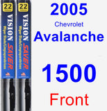 Front Wiper Blade Pack for 2005 Chevrolet Avalanche 1500 - Vision Saver
