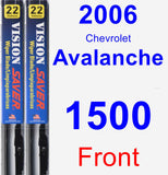 Front Wiper Blade Pack for 2006 Chevrolet Avalanche 1500 - Vision Saver