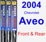 Front & Rear Wiper Blade Pack for 2004 Chevrolet Aveo - Vision Saver