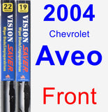 Front Wiper Blade Pack for 2004 Chevrolet Aveo - Vision Saver