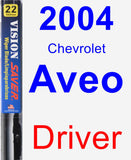 Driver Wiper Blade for 2004 Chevrolet Aveo - Vision Saver
