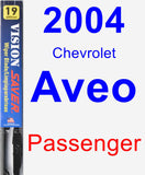 Passenger Wiper Blade for 2004 Chevrolet Aveo - Vision Saver