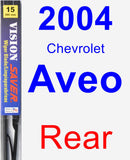 Rear Wiper Blade for 2004 Chevrolet Aveo - Vision Saver
