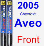 Front Wiper Blade Pack for 2005 Chevrolet Aveo - Vision Saver