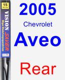 Rear Wiper Blade for 2005 Chevrolet Aveo - Vision Saver