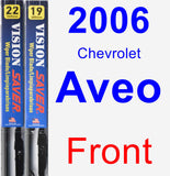 Front Wiper Blade Pack for 2006 Chevrolet Aveo - Vision Saver