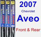 Front & Rear Wiper Blade Pack for 2007 Chevrolet Aveo - Vision Saver