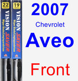 Front Wiper Blade Pack for 2007 Chevrolet Aveo - Vision Saver