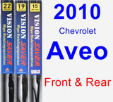 Front & Rear Wiper Blade Pack for 2010 Chevrolet Aveo - Vision Saver