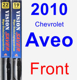 Front Wiper Blade Pack for 2010 Chevrolet Aveo - Vision Saver
