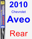 Rear Wiper Blade for 2010 Chevrolet Aveo - Vision Saver