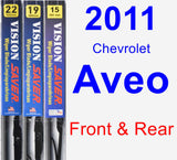 Front & Rear Wiper Blade Pack for 2011 Chevrolet Aveo - Vision Saver