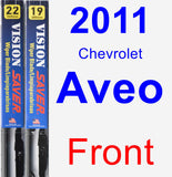 Front Wiper Blade Pack for 2011 Chevrolet Aveo - Vision Saver